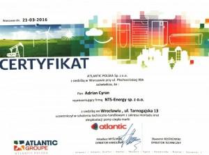 Certyfikat Atlantic C