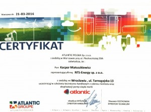 Certyfikat Atlantic M